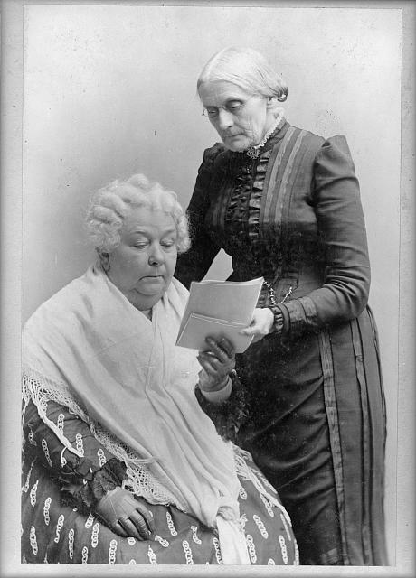 Elizabeth Cady Stanton and Susan B. Anthony some decades after they first met. c. 1880–1902. Library of Congress