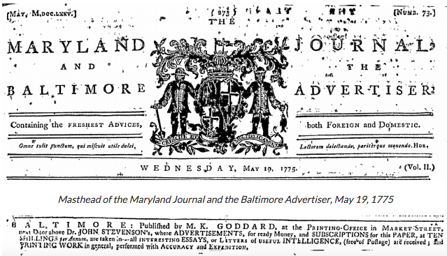 Maryland Journal and the Baltimore Advertiser